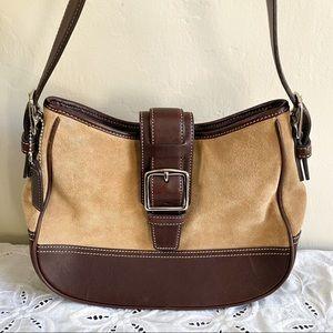 Coach Vintage Y2K Brown Suede Leather Hampton Bag